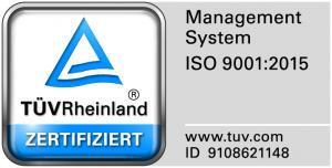 TÜV-Prüfsiegel_DIN EN ISO 9001:2015