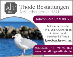 Anzeige Werbung Thode 2016 neue Farbe neues Logo Möwe