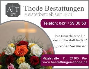 Trauerfeier Kiel Kirche Kirchengemeinde
