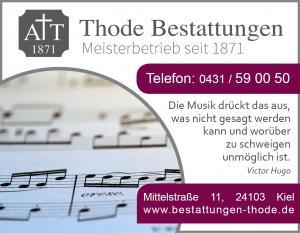 Anzeigen Trauermusik Werbung Thode 2016
