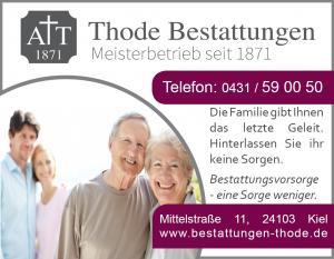 Bestattungsvorsorge Kiel Vorsorge Werbeanzeige
