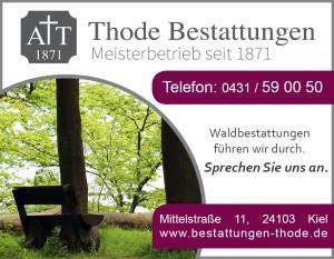 Waldbestattungen Kiel Werbung Baumbestattungen