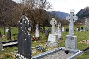 Friedhof Irland Glendalough in den Wicklow Mountains