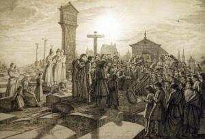 Morgenfeier am Grab im Jahr 1828 Albrecht Dürer