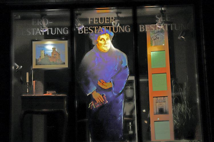Schaufenster Martin Luther