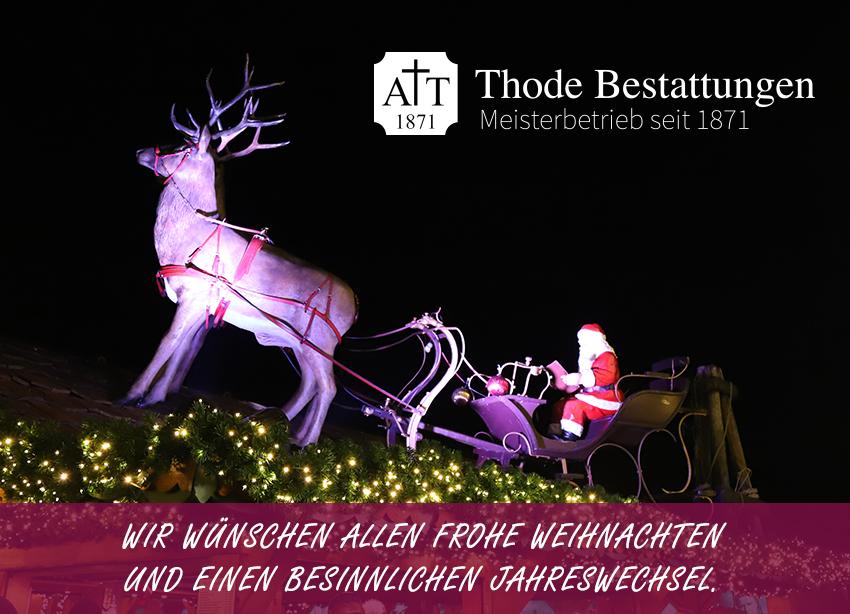 Weihnachtsgrüsse 2020 Thode Bestattungen